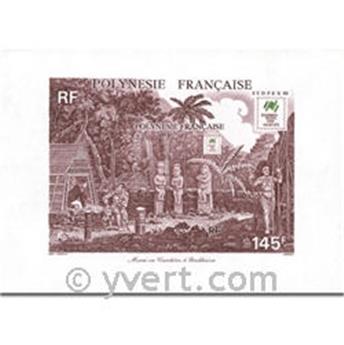 n° 14 -  Selo Polinésia Blocos e folhinhas