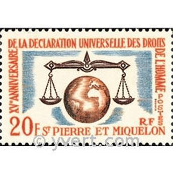 n.o 370 -  Sello San Pedro y Miquelón Correos