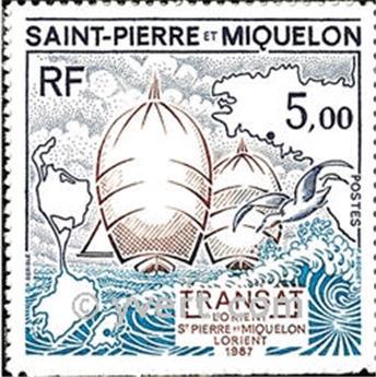 n.o 477 -  Sello San Pedro y Miquelón Correos