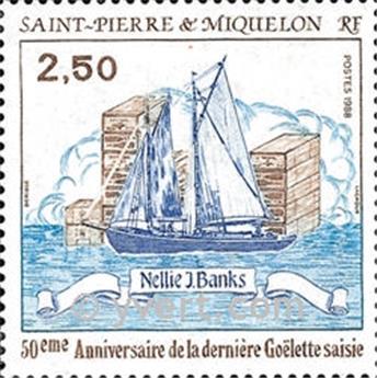 n.o 492 -  Sello San Pedro y Miquelón Correos