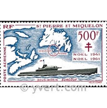 n° 28 -  Timbre Saint-Pierre et Miquelon Poste aérienne