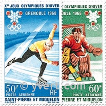 n° 40/41 -  Timbre Saint-Pierre et Miquelon Poste aérienne
