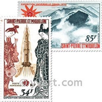 n° 48/49 -  Timbre Saint-Pierre et Miquelon Poste aérienne