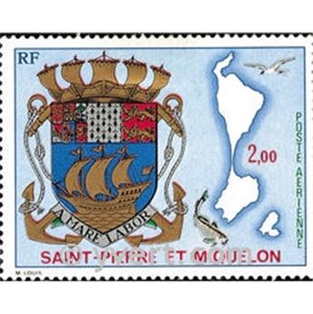 n° 58 -  Timbre Saint-Pierre et Miquelon Poste aérienne
