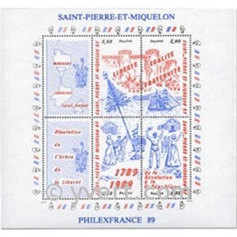 n° 3 -  Timbre Saint-Pierre et Miquelon Bloc et feuillet