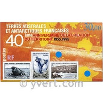 n° 2 -  Timbre TAAF Bloc et feuillets