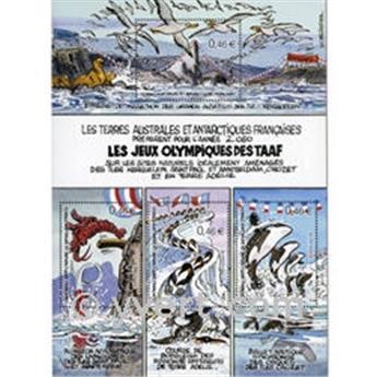 n.o 7 -  Sello Tierras Australes y Antárticas Francesas Bloque y hojitas