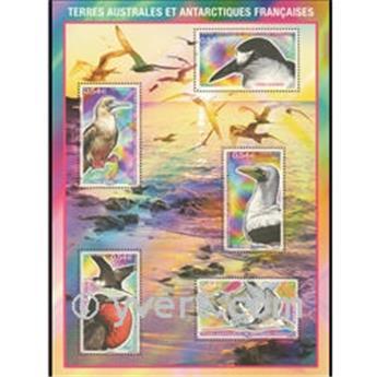 n.o 21 -  Sello Tierras Australes y Antárticas Francesas Bloque y hojitas