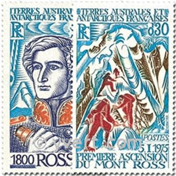 n.o 61 / 62 -  Sello Tierras Australes y Antárticas Francesas Correos