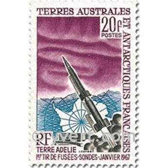 n.o 23 -  Sello Tierras Australes y Antárticas Francesas Año completo (1967)