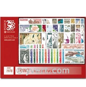 n° 74/78+PA51/55 -  Selo TAAF Ano completo (1978)