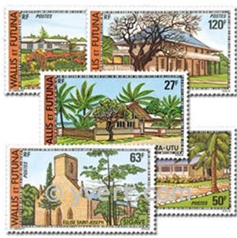 n° 203/207  -  Selo Wallis e Futuna Correios