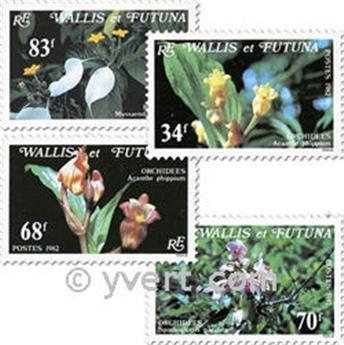 n° 286/289f (feuille) -  Timbre Wallis et Futuna Poste