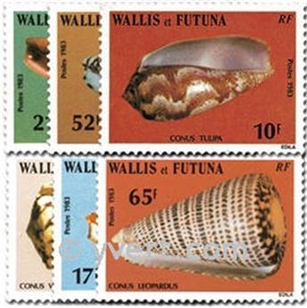 n.o 306/311 -  Sello Wallis y Futuna Correos