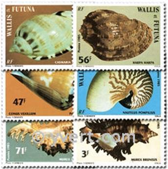 n.o 323/328 -  Sello Wallis y Futuna Correos