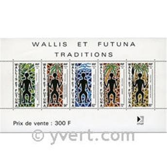 n° 5 -  Selo Wallis e Futuna Blocos e folhinhas