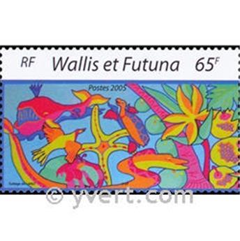 n° 19 -  Timbre Wallis et Futuna Bloc et feuillets