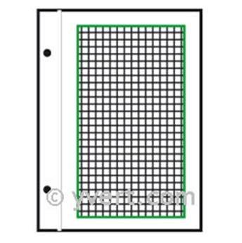Feuilles à personnaliser FO : pages quadrillées (x50)