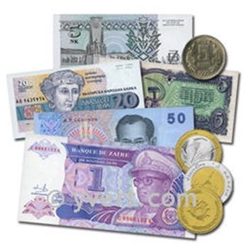MYANMAR: 1Lote de 5 billetes