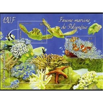 n.o  39 - Timbre Polynésie Bloques y hojitas