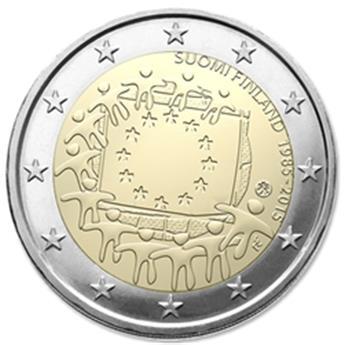 2 EURO COMMEMORATIVE 2015 : FINLANDE (30e anniversaire du drapeau européen)